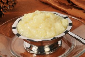 A bowl of tapioca or rice pudding