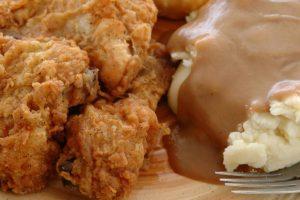 Friend Chicken, potatoes and gravy