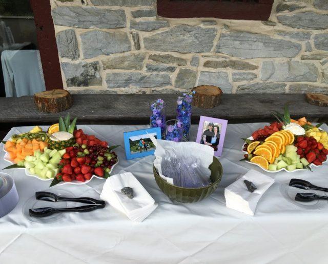 Wedding fruit tray table